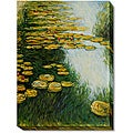 Monet 'Water Lilies (Yellow and Green)' Canvas Art