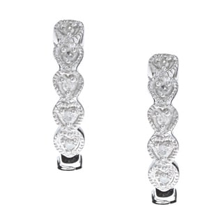 10k White Gold Diamond Accent Earrings