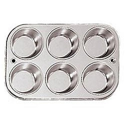 Grade 18/8 Stainless Steel 6-cup Muffin Pans (Pack of 2)