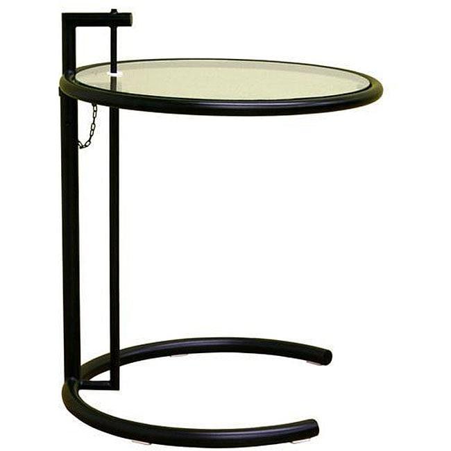 Jago black glass adjustable end table 12177613 overstock com