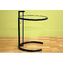 Jago Black Glass Adjustable End Table