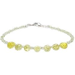 Glass/ Agate/ Silver Bracelet (Thailand)