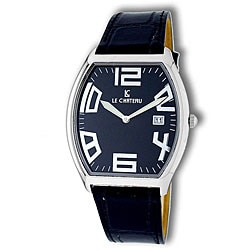 Le Chateau Men's Black Leather Band Watch