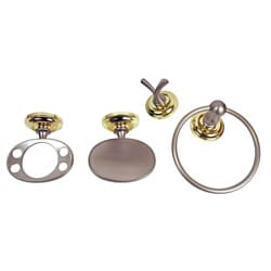 Moen Madison 4-piece Pewter and Polished Brass Bath Accessory Kit