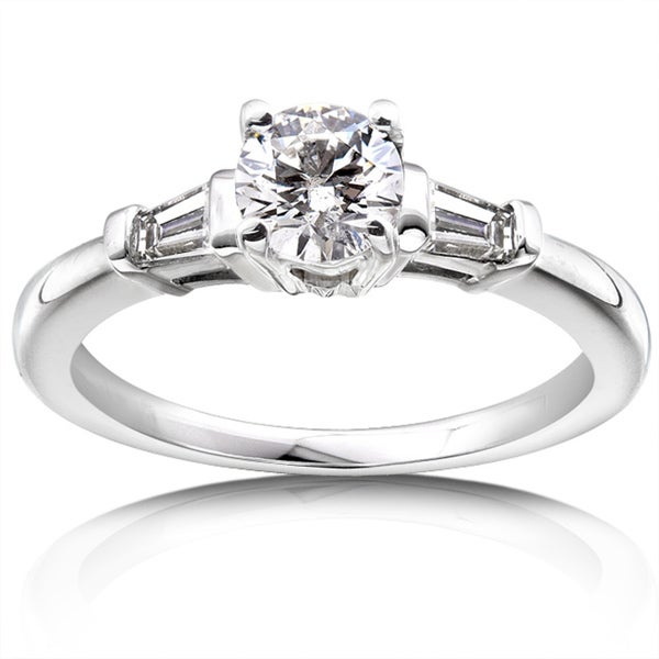 Annello 14k Gold 3/4ct TDW Round Diamond Engagement Ring (H-I, I1-I2)