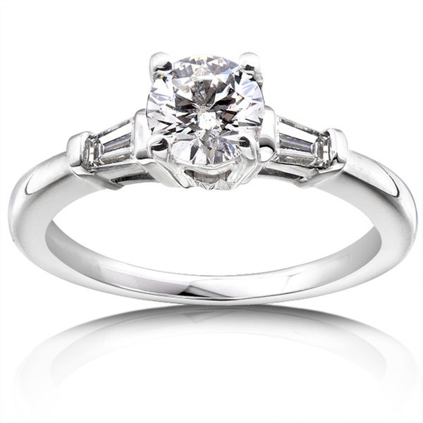 Annello 14k Gold 1ct TDW Round Diamond Engagement Ring (H-I, I1-I2)