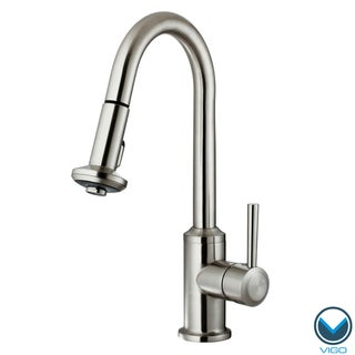 VIGO 360 Degree Swivel Stainless Steel Pull-Out Spray Kitchen Faucet