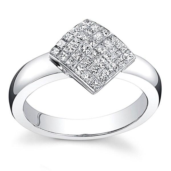 18k Gold 3/4ct TDW Princess Diamond Ring (F, VS)