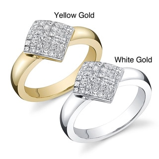 18k Gold 3/4ct TDW Princess Diamond Ring (F, VS)