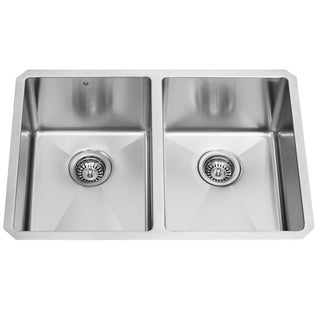 29-inch Undermount Stainless Steel 16 Gauge Stainless Steel Double Kitchen sink