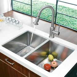 VIGO 29-inch Undermount Stainless Steel 16 Gauge Stainless Steel Double Kitchen sink