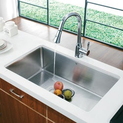 VIGO 32-inch Undermount Stainless Steel 16 Gauge Kitchen Sink