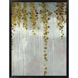 Lisa Kowalski 'Gold Swirls' Framed Art