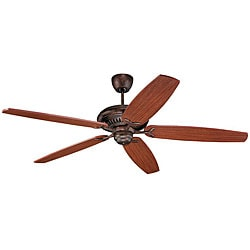 High Performance Tuscan Bronze Mahogany Finished Indoor Ceiling Fan