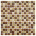 SomerTile 12.25x12.25-in Metal Downtown 3/4-in Beige Porcelain Mosaic Tile (Pack of 10)