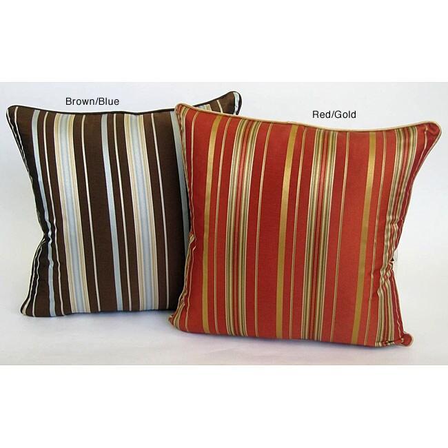 Stripe 18-inch Throw Pillows (Set of 2)