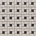 SomerTile 12.25x12.25-in New York 1x2-in Black/White Spiral Porcelain Mosaic Tile (Pack of 10)