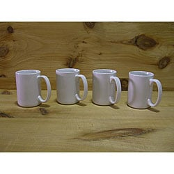 Ceramic White Gloss Coffee/ Tea Mugs (Pack of 4)