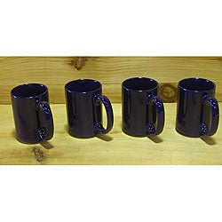 Ceramic Cobalt Navy Blue Coffee/ Tea Mugs (Pack of 4)