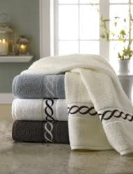 Embroidered Cable Egyptian Cotton 6-piece Towel Set