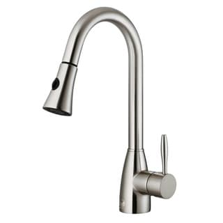 VIGO 2.2 GPM Stainless Steel Pull-Out Spray Kitchen Faucet