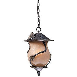 Outdoor Froggie Weathered Bronze Light Pendant