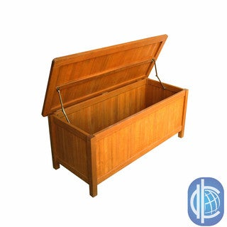 International Caravan Royal Tahiti Outdoor Balau Wood Storage Trunk