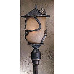 Outdoor Weathered Bronze 4-bulb Froggie Post