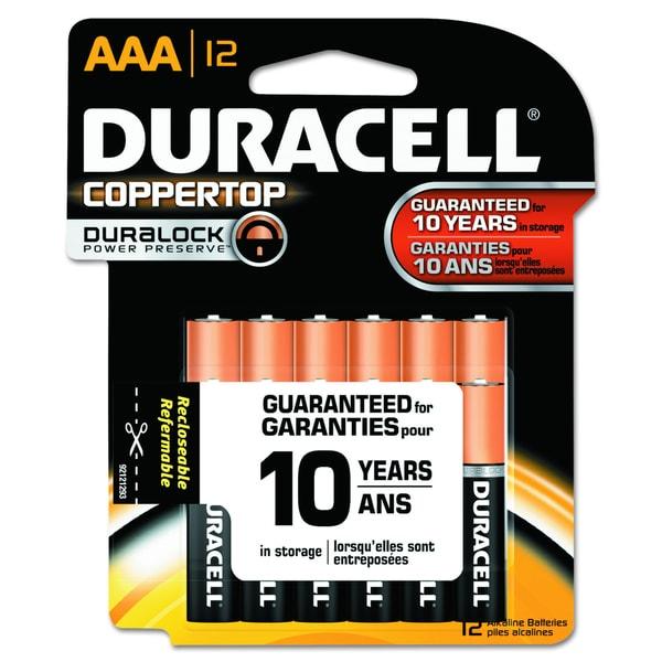 DURACELL AAA ALKALINE SUPLBATTERY - 12 PACK