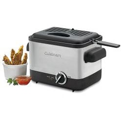 Cuisinart CDF-100 Brushed Stainless Steel Compact Deep Fryer