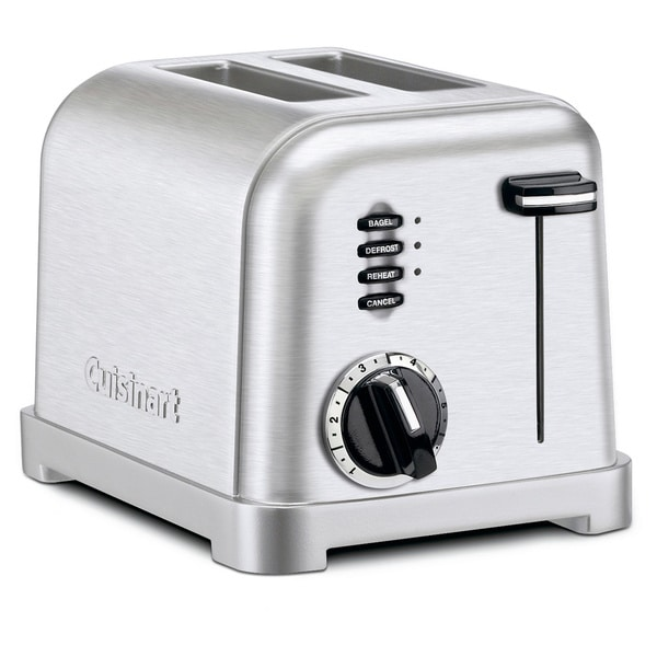 Cuisinart CPT-160 Brushed Stainless Metal Classic 2-Slice Toaster