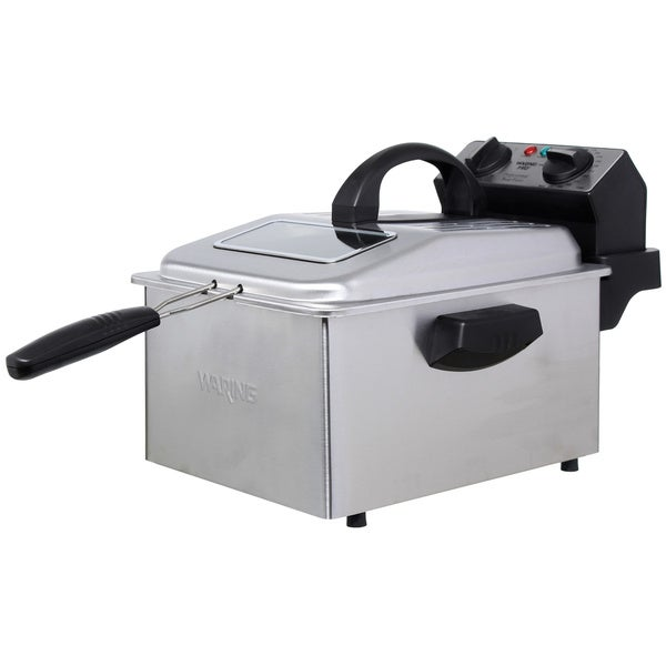 Waring Pro DF250B Deep Fryer Brushed Stainless Steel