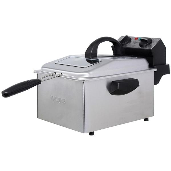 Waring pro df250b deep fryer brushed stainless steel for Walmart fish fryer