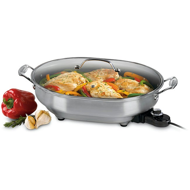 Cuisinart CSK-150 1500-Watt Nonstick Oval Electric Skillet