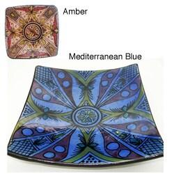 Engraved Square Safi Plate (Morocco)
