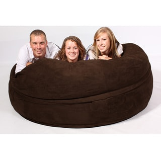 FufSack Chocolate Brown Sofa Sleeper Lounge Chair