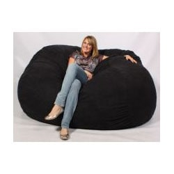 FufSack XXLarge 7-foot Black Lounge Chair