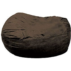 FufSack XXLarge 7-foot Chocolate Brown Lounge Chair