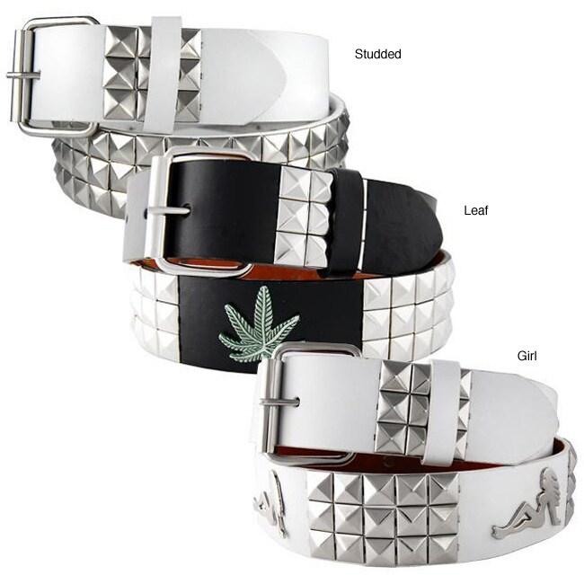 H2W Men's Silver Studded Belt