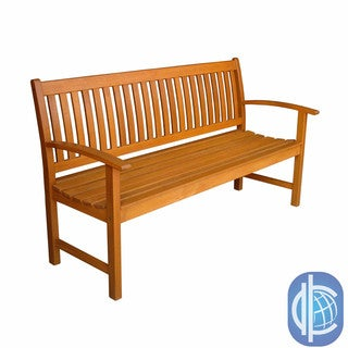 International Caravan Royal Tahiti Yellow Balau Wood 3-seater Park Bench