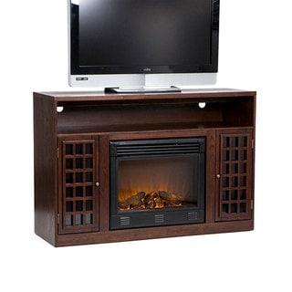 Branick Espresso Media Console Fireplace
