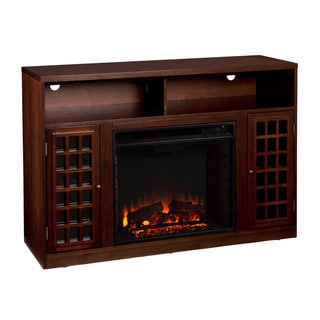 Branick Espresso Media Console Fireplace