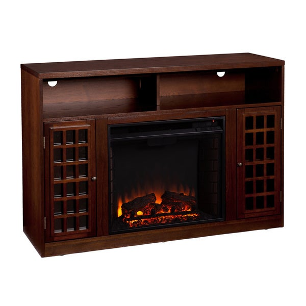 branick espresso media console fireplace overstock