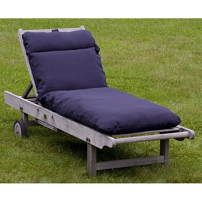 Outdoor Navy Blue Chaise Lounge Cushion 12216334 Shopping