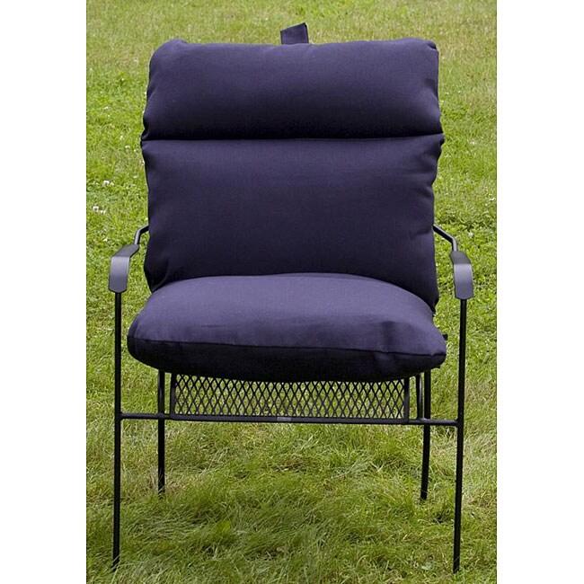 Outdoor Club Navy Blue Chair Cushion Overstock Shopping Bi