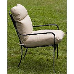 Outdoor Beige Club Chair Cushion