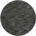 Hand-tufted Abrash Grey Wool Rug (8' Round)