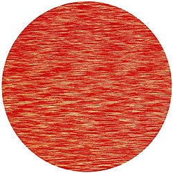 Hand-tufted Mixed Copper Abrash Wool Rug (8' Round)