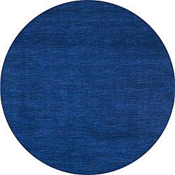 Blue Fusion Wool Rug (8' Round)