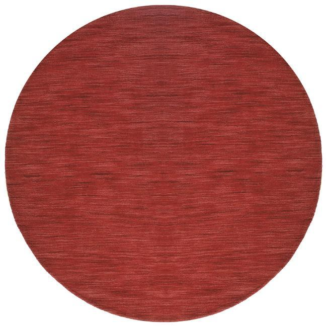 Fusion Red Wool Rug (8' Round)